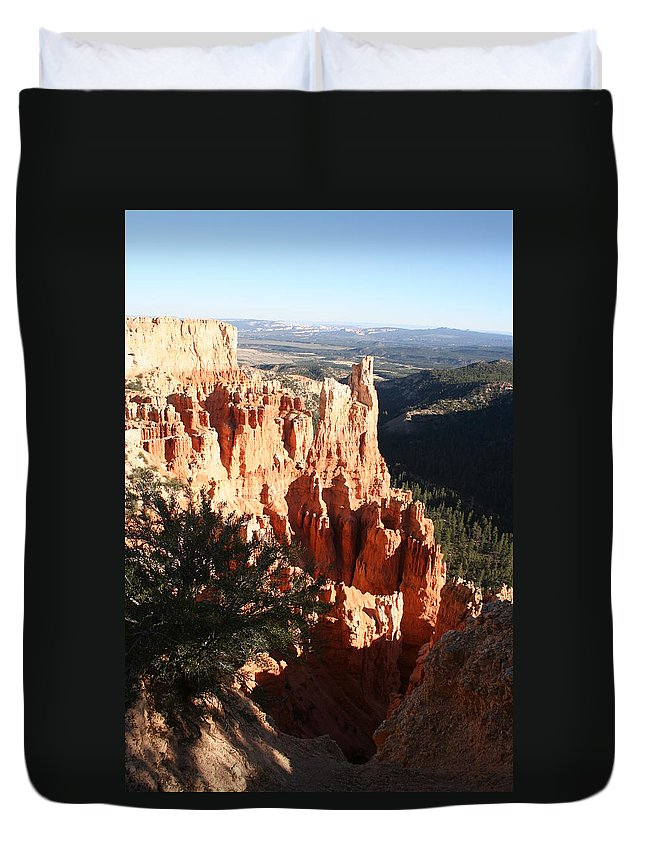 Canyon Duvet Cover featuring the photograph Bryce Canyon Landscape by Christiane Schulze Art And Photography