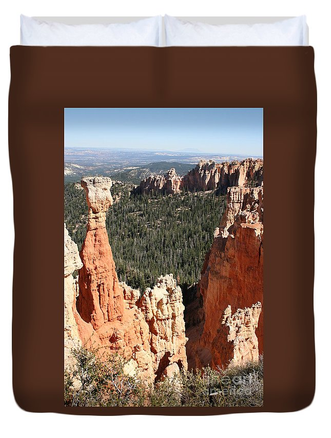 Canyon Duvet Cover featuring the photograph Bryce Canyon - Thors Hammer by Christiane Schulze Art And Photography