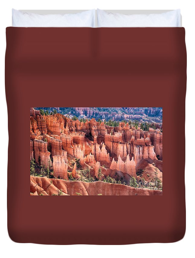 Bryce Canyon Duvet Cover featuring the photograph Bryce Canyon Utah Views 508 by James BO Insogna