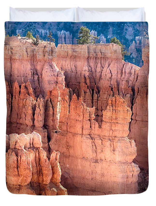 Bryce Canyon Duvet Cover featuring the photograph Bryce Canyon Utah Views 90 by James BO Insogna