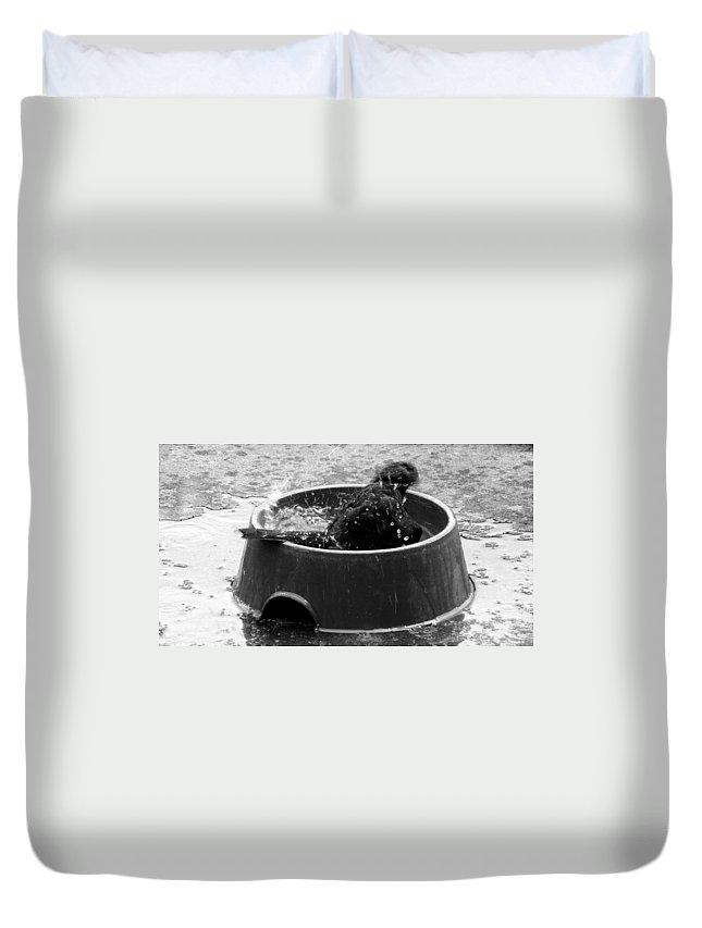 Bubble Duvet Cover featuring the photograph Bubble Bath by Steve Taylor