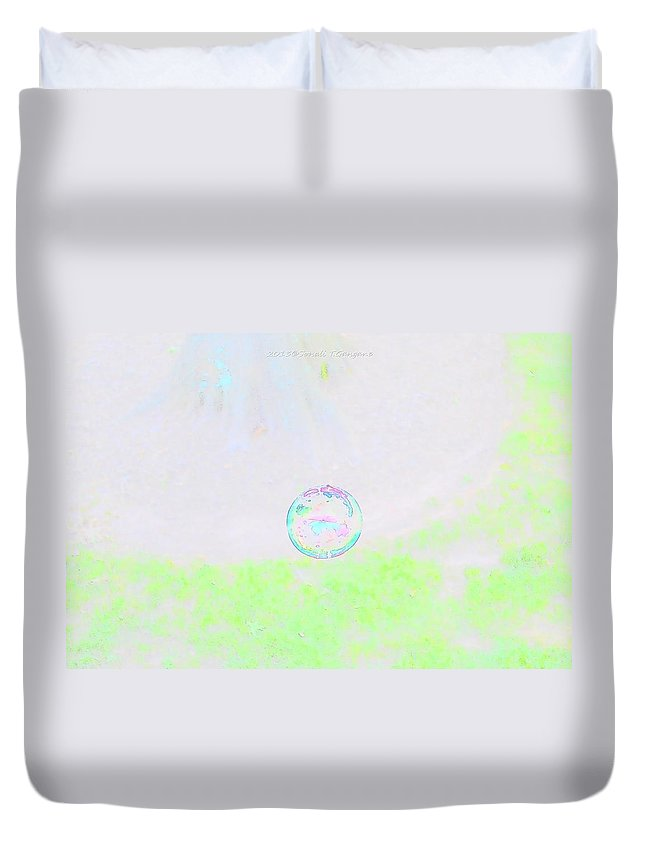 Bubble World Duvet Cover featuring the photograph Bubble Of Joy by Sonali Gangane