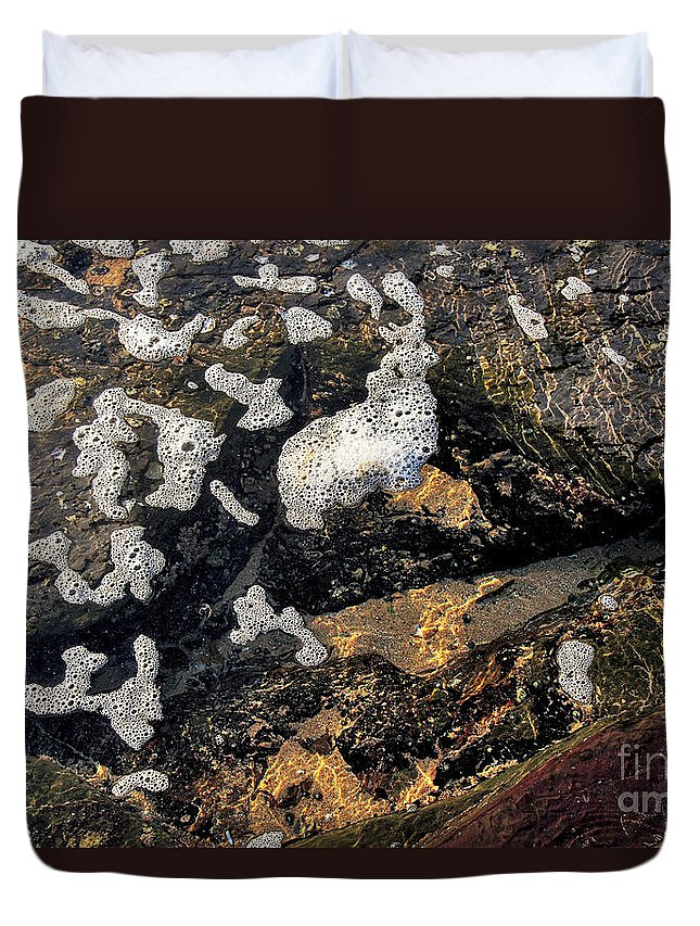 Photography Duvet Cover featuring the photograph Bubbles Afloat by Kaye Menner
