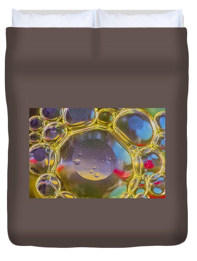 Bubble Duvet Cover featuring the photograph Bubbles Background by Paulo Goncalves
