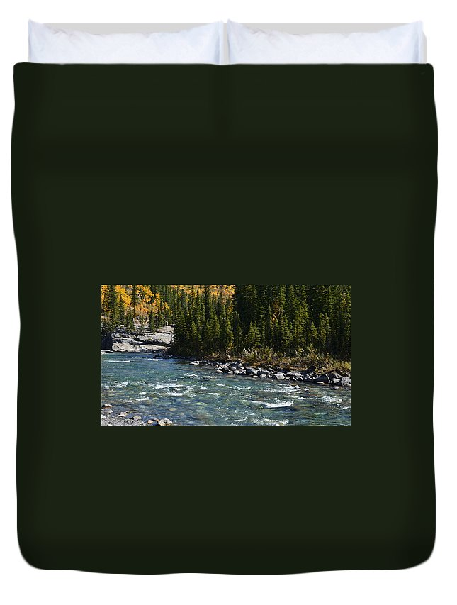 Canada Duvet Cover featuring the photograph Bubbling River by Cheryl Miller