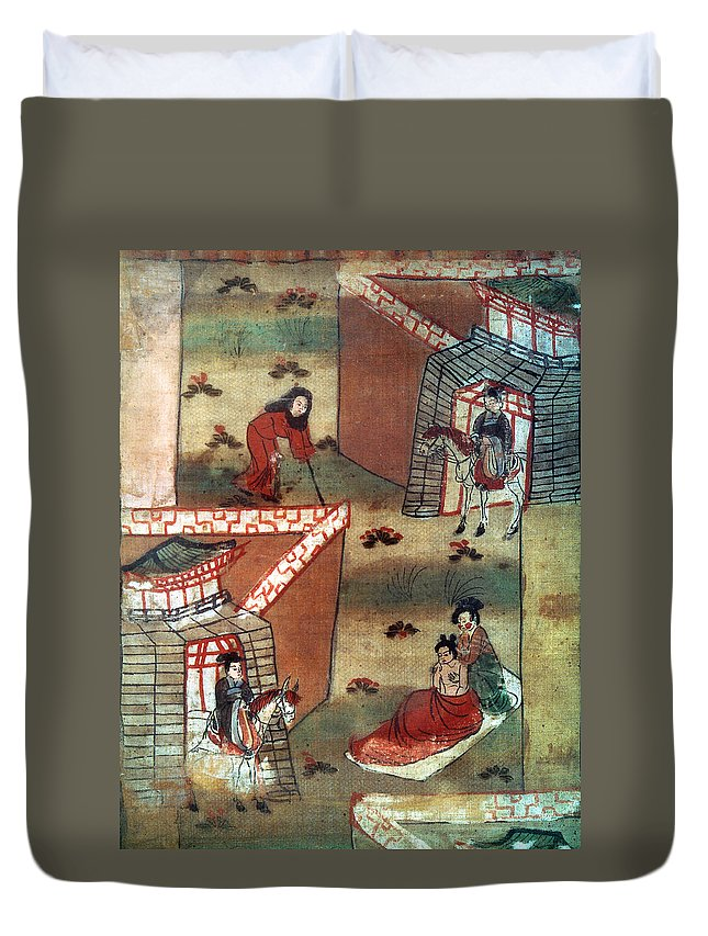 10th Century Duvet Cover featuring the painting Buddha Prince Siddhartha by Granger