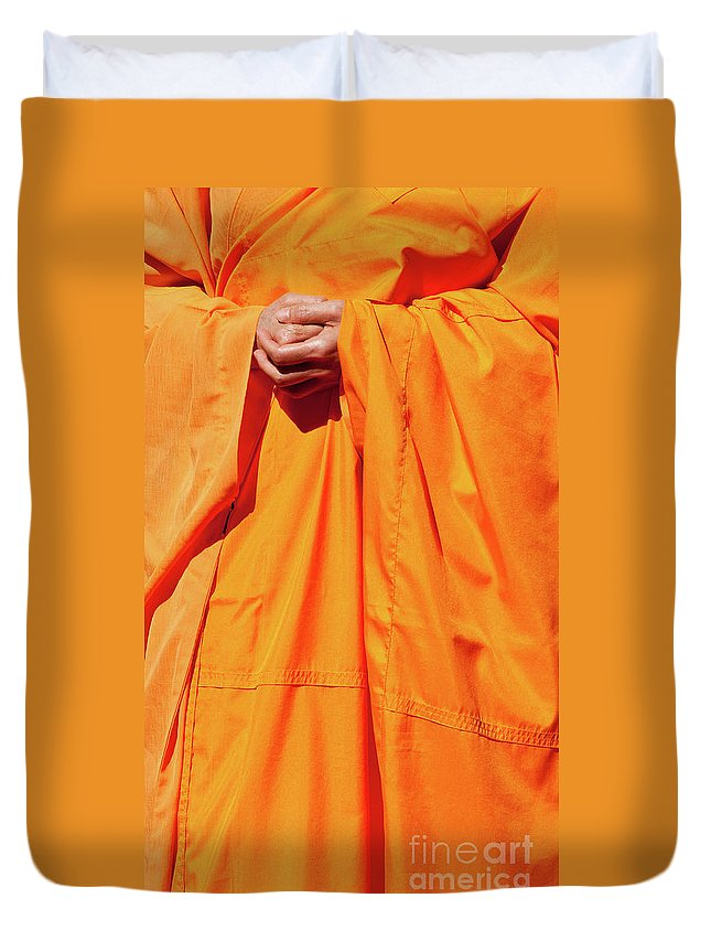 Buddhist Monk Duvet Cover featuring the photograph Buddhist Monk 02 by Rick Piper Photography