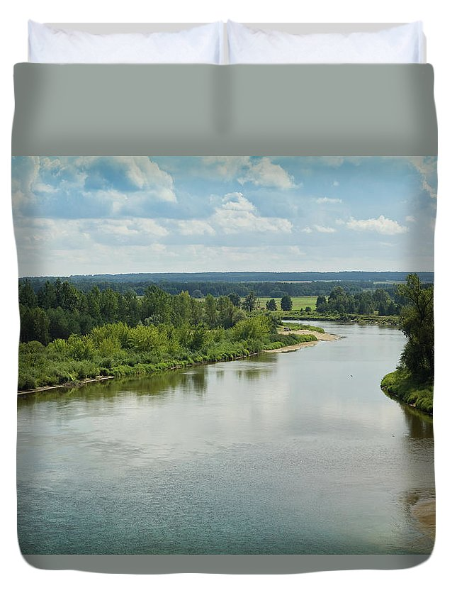 Scenics Duvet Cover featuring the photograph Bug River by Michalludwiczak