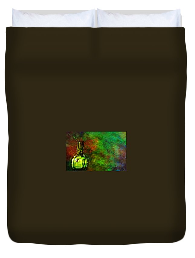 Modern Vase Art Duvet Cover featuring the mixed media Bugs by Ally White