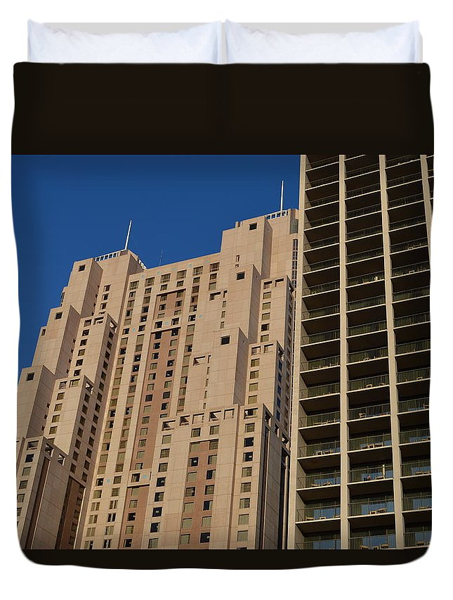 Architecture Duvet Cover featuring the photograph Building Blocks by Shawn Marlow