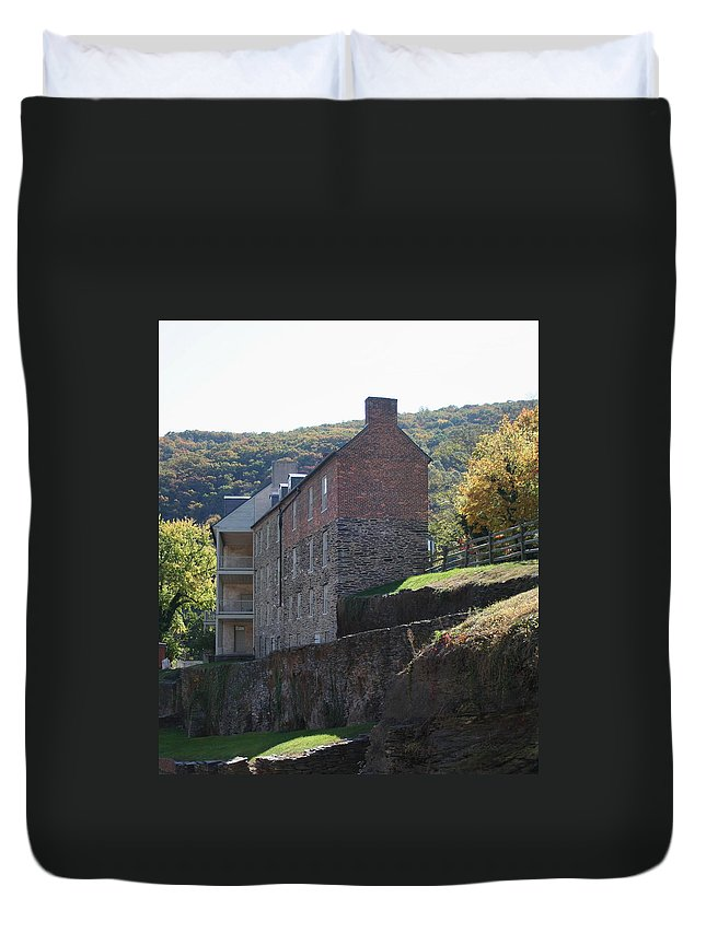 Rock Duvet Cover featuring the photograph Built On A Rock by Rebecca Smith