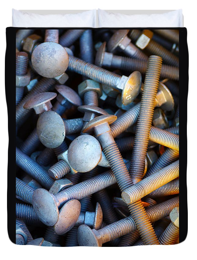 Aluminium Duvet Cover featuring the photograph Bunch Of Screws by Carlos Caetano