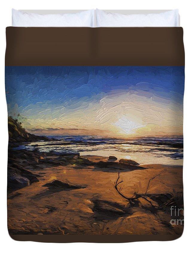 Bungan Beach Duvet Cover featuring the photograph Bungan Beach sunrise by Sheila Smart Fine Art Photography