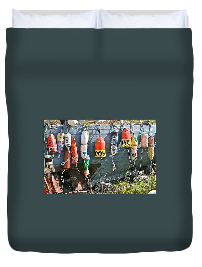 Buoy Duvet Cover featuring the photograph Buoy Hang Out by Rick Monyahan