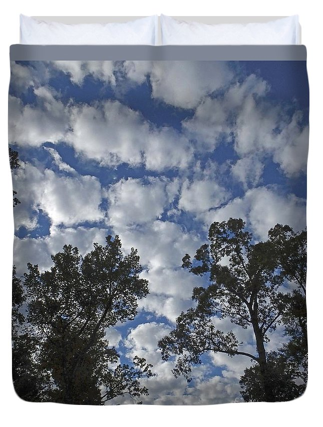 Clouds Duvet Cover featuring the photograph Burden Sky by Lizi Beard-Ward