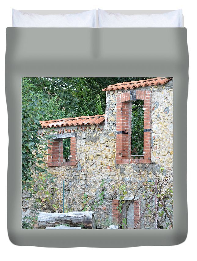 Burgundy Duvet Cover featuring the photograph Burgundy . 1.1 by Cheryl Miller