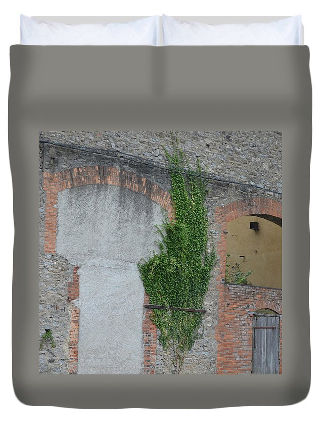 France Duvet Cover featuring the photograph Window With Ivy by Cheryl Miller
