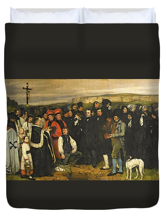 burial at ornans 1849 50 oil on canvas duvet cover for sale by