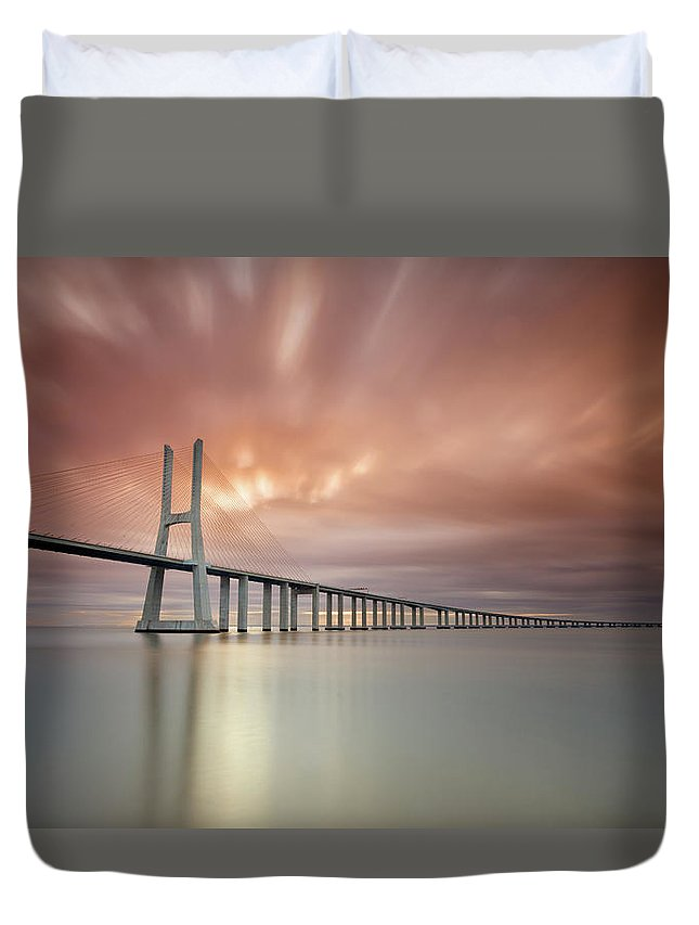 Tranquility Duvet Cover featuring the photograph Burn, Fire Burn by Landscape Photography