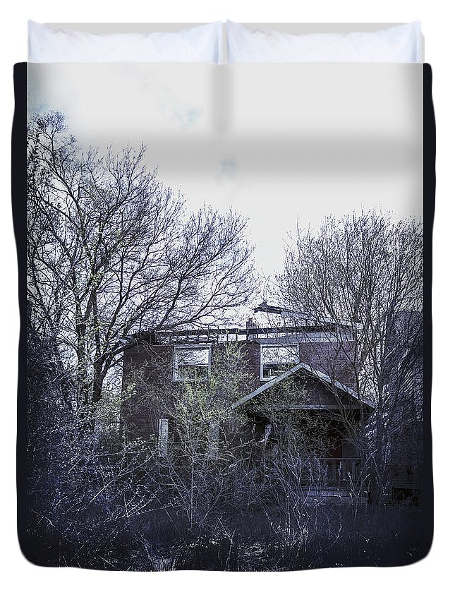House Duvet Cover featuring the photograph Burned Out by Margie Hurwich