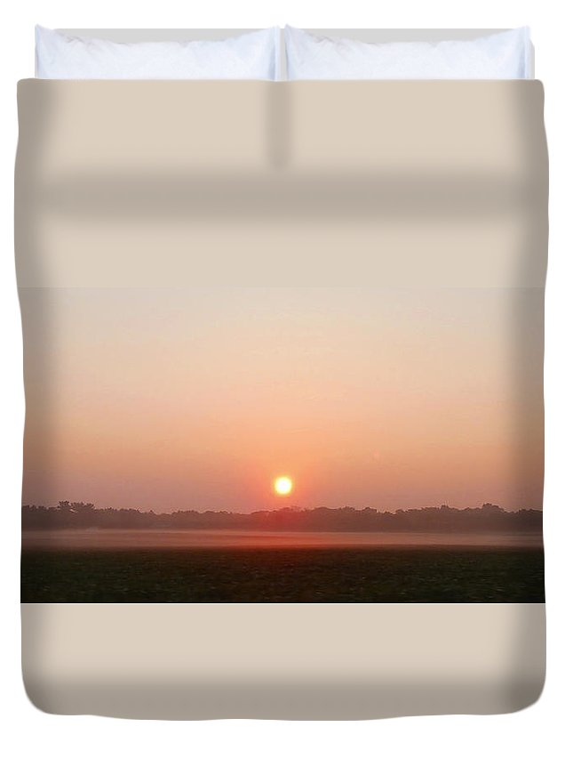 Fog Duvet Cover featuring the photograph Burning Off The Fog by Dan McCafferty