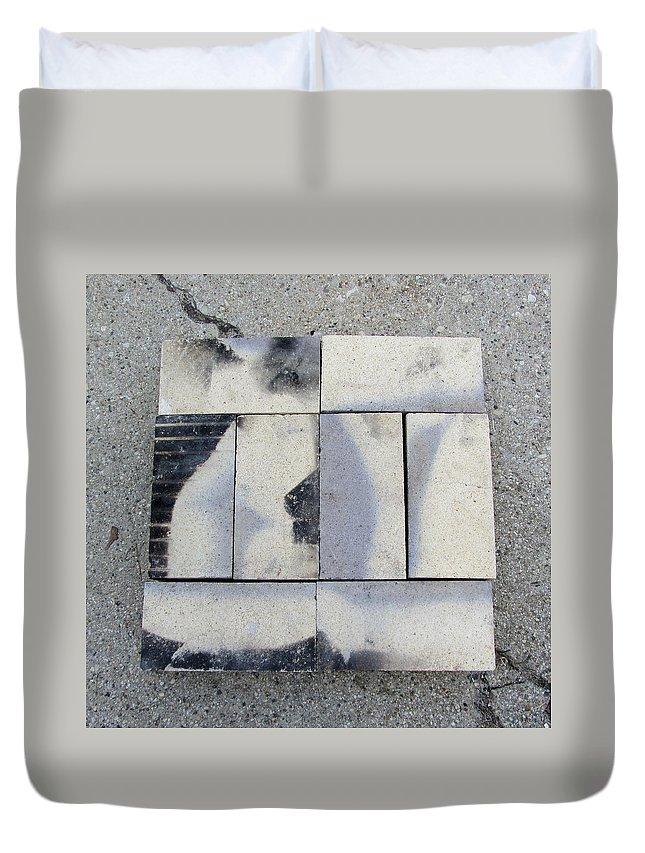 Brick Duvet Cover featuring the photograph Burnt Brick 1 by Anita Burgermeister