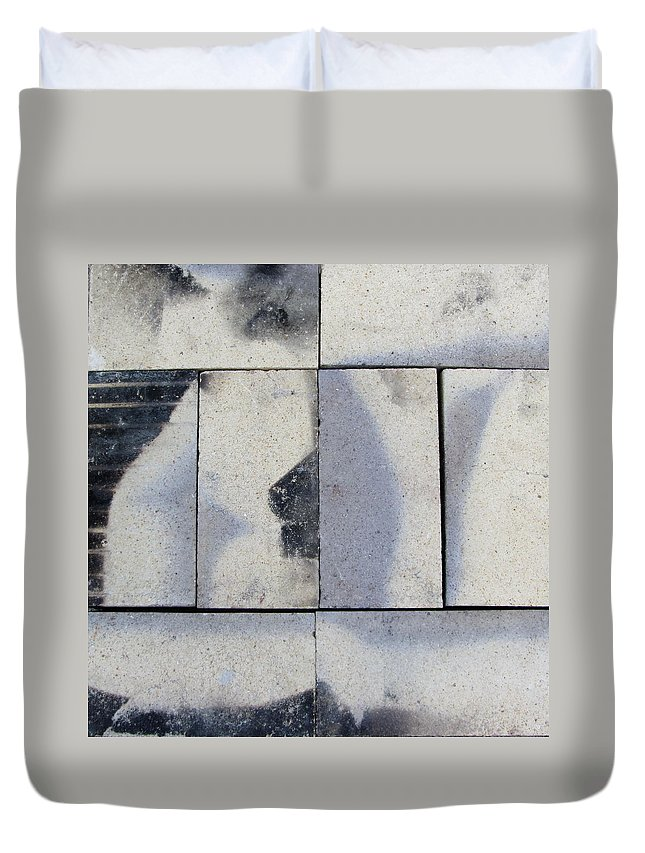 Brick Duvet Cover featuring the photograph Burnt Brick 2 by Anita Burgermeister