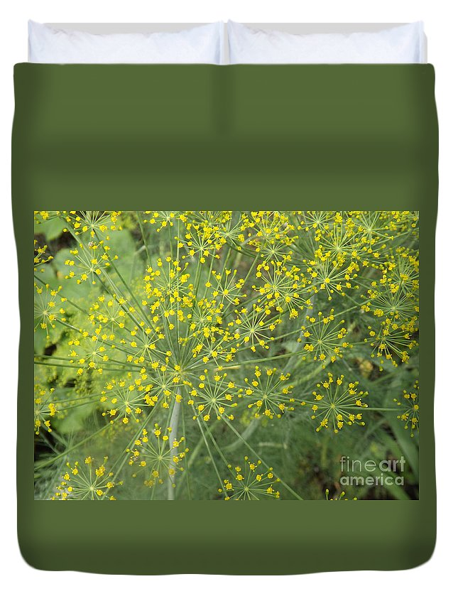 Dill Duvet Cover featuring the photograph Bursting Dill Plant by Brenda Brown