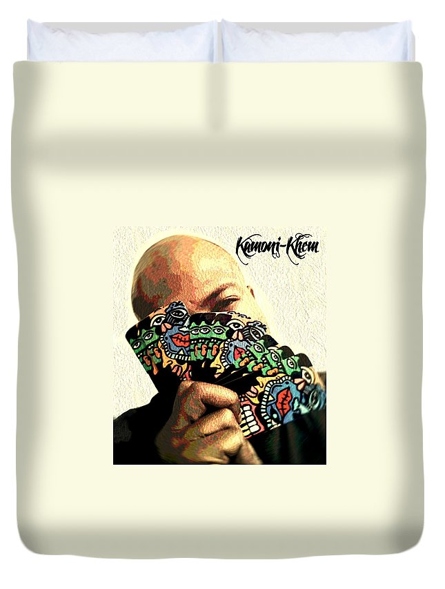 Businessman Duvet Cover featuring the digital art Business And No Gimmicks by Kamoni Khem