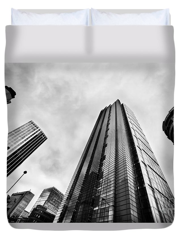 Skyscraper Duvet Cover featuring the photograph Business Architecture Skyscrapers In London Uk by Michal Bednarek