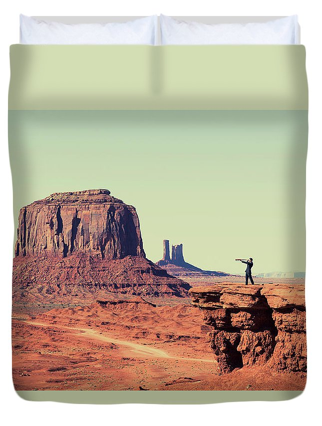 Corporate Business Duvet Cover featuring the photograph Business Vision by Richvintage