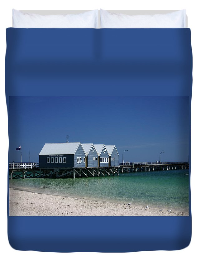 Beach Duvet Cover featuring the photograph Busselton Jetty by Fraser McCulloch
