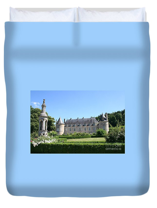 Palace Duvet Cover featuring the photograph Bussy - Rabutin Palace Garden by Christiane Schulze Art And Photography
