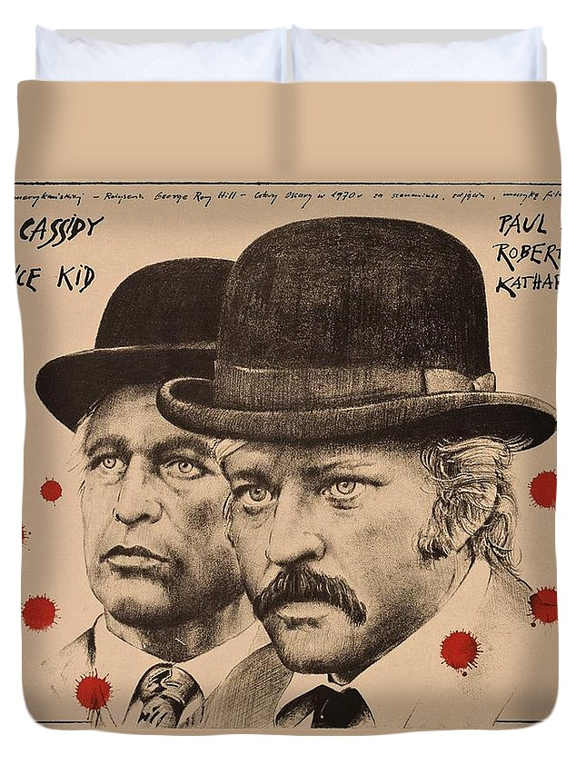 Butch Cassidy Duvet Cover featuring the photograph Butch Cassidy And The Sundance Kid by Movie Poster Prints
