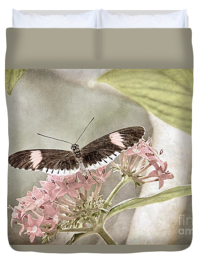 Nature Duvet Cover featuring the photograph Butterfly Whisper by Peggy Hughes