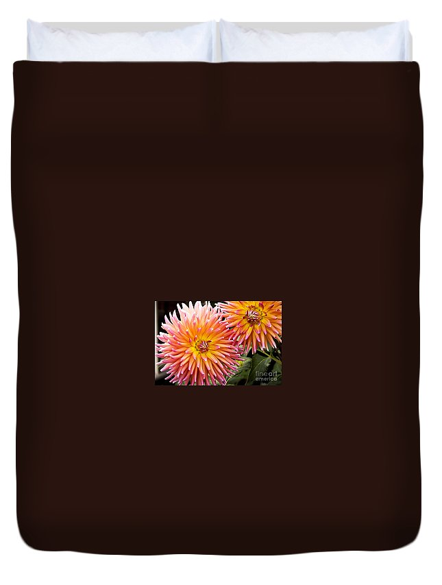 Port Albert Duvet Cover featuring the photograph Buy Me Flowers by James Dierker