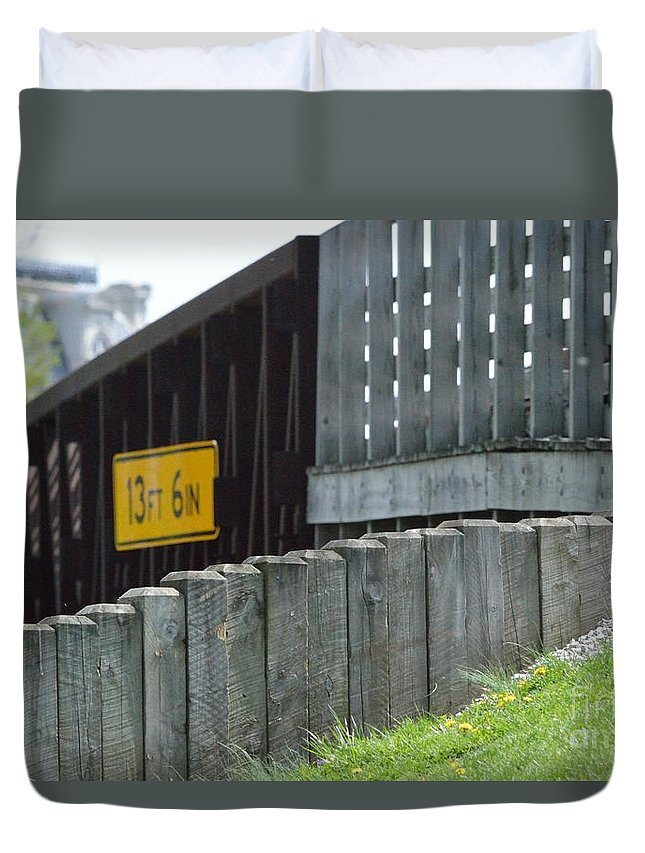 Indiana Duvet Cover featuring the photograph By The Bridge by Alys Caviness-Gober