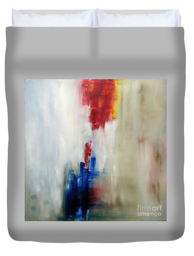 Abstract Painting Duvet Cover featuring the painting C-15 by Jeff Barrett