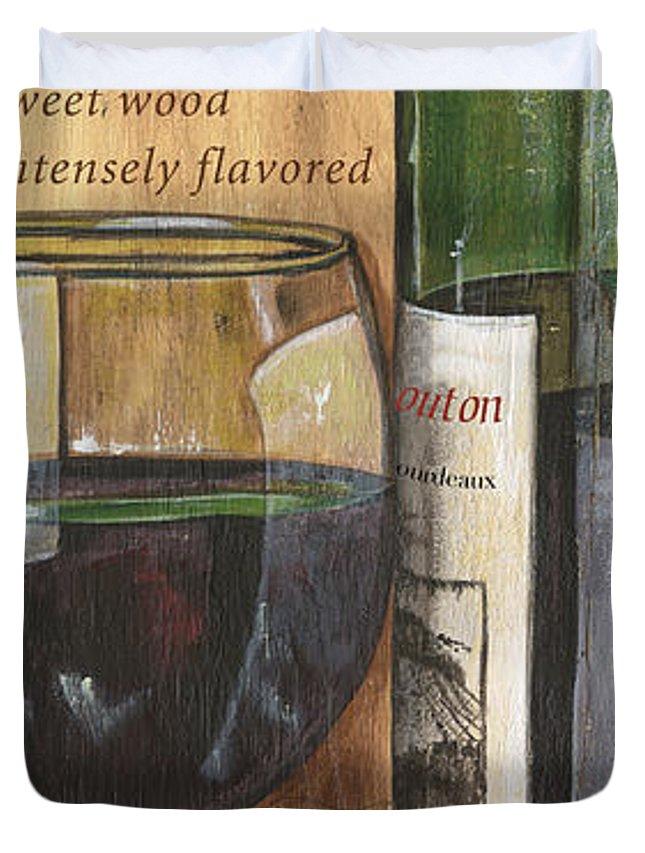 Cabernet Duvet Cover featuring the painting Cabernet Sauvignon by Debbie DeWitt