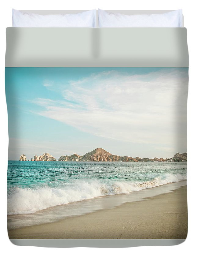 Water's Edge Duvet Cover featuring the photograph Cabos San Lucas by Christopher Kimmel