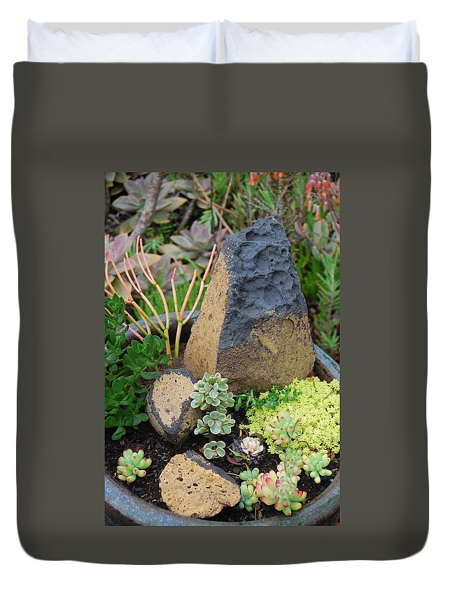 Flower Duvet Cover featuring the photograph Succulent Garden by Amy Fose