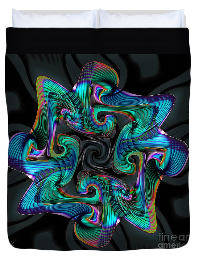 Cadenza Duvet Cover featuring the digital art Cadenza by Kimberly Hansen