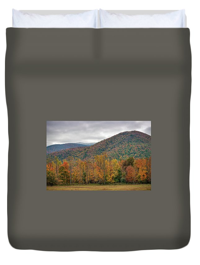 Scenics Duvet Cover featuring the photograph Cades Cove, Great Smoky Mountains by Fotomonkee