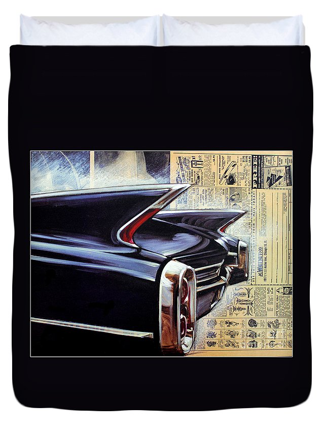 Kip Krause Duvet Cover featuring the photograph Cadillac Attack by Kip Krause