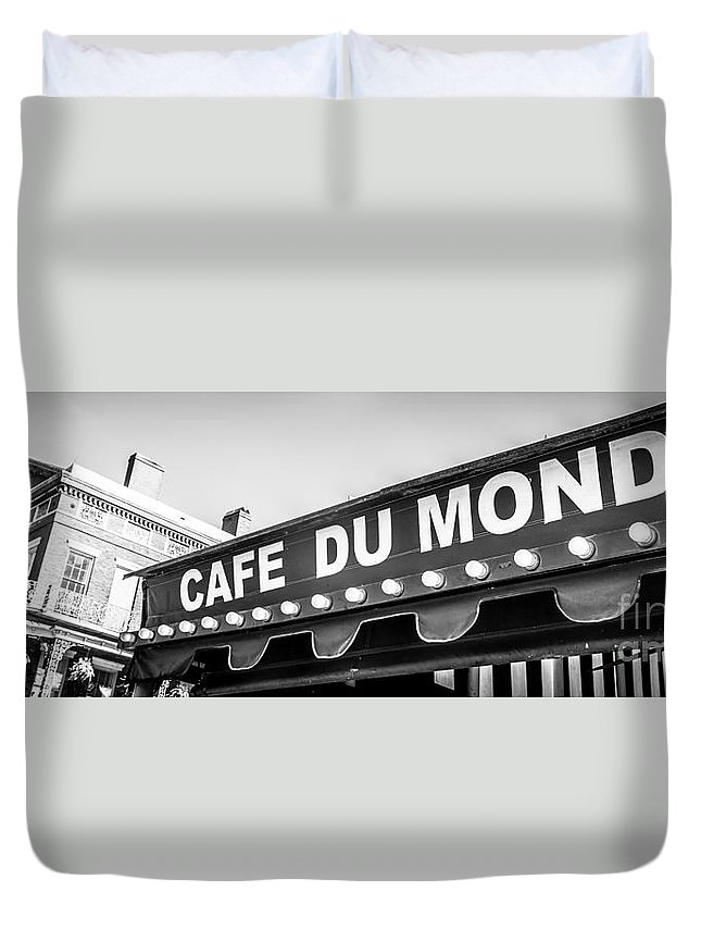 America Duvet Cover featuring the photograph Cafe Du Monde Panoramic Picture by Paul Velgos