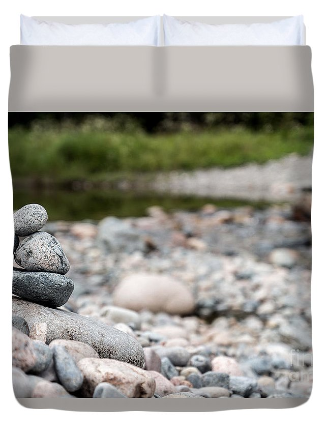 Acadia Duvet Cover featuring the photograph Cairn by David Rucker