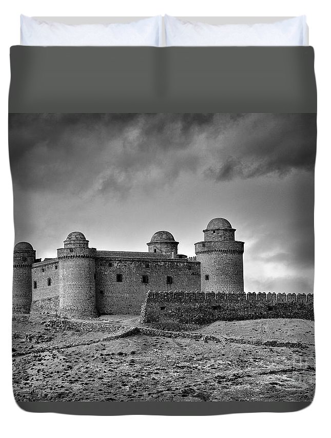 Mono Duvet Cover featuring the photograph Calahorra Castle Year 1509 In Granada by Guido Montanes Castillo
