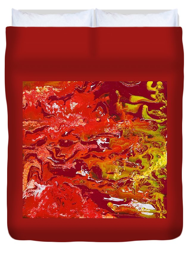 Fusionart Duvet Cover featuring the painting Caliente by Ralph White