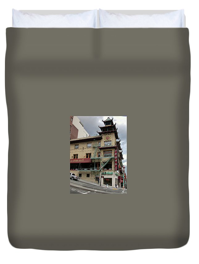 Architecture Duvet Cover featuring the photograph California At Grant by Guy Whiteley