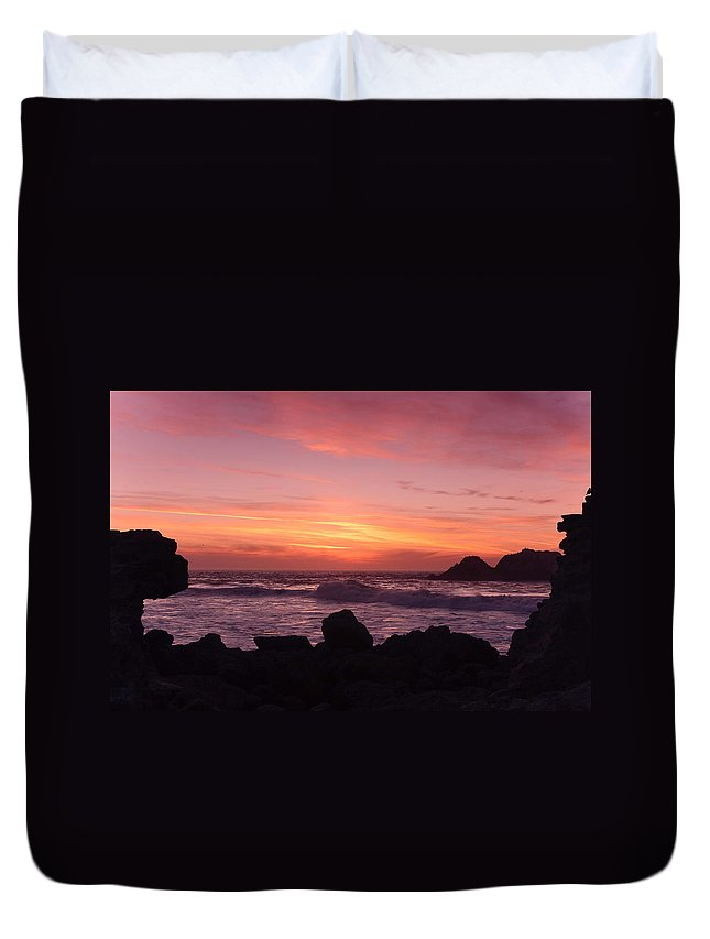 California Duvet Cover featuring the photograph California Sunset by Kyle Simpson